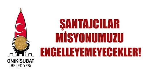 Onikişubat Belediyesi İftiracılara Ağzının Payını Verdi!