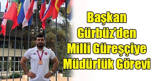 Milli Güreşçiye Elbistan Belediyesi Gençlik ve Spor Hizmetleri Müdürlüğü Görevi