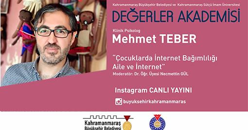 Değerler Akademisi'nin Konuğu Psikolog Mehmet Teber