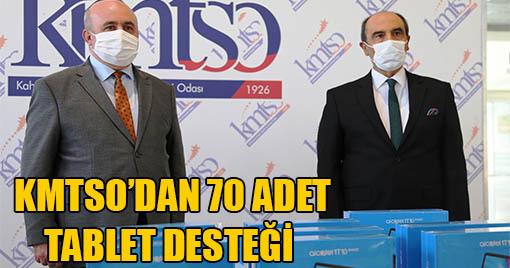 KMTSO'DAN 70 ADET TABLET DESTEĞİ