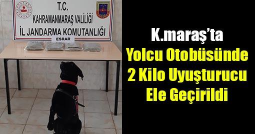 Kahramanmaraş'ta Yolcu Otobüsünde 2 Kilo Uyuşturucu Ele Geçirildi