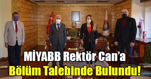 MİYABB, KSÜ Rektörü Can'dan Gazetecilik Bölümü Talebinde Bulundu!