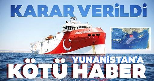 Yunanistan'a Kötü Haber! NAVTEX'in Süresi Uzatıldı...