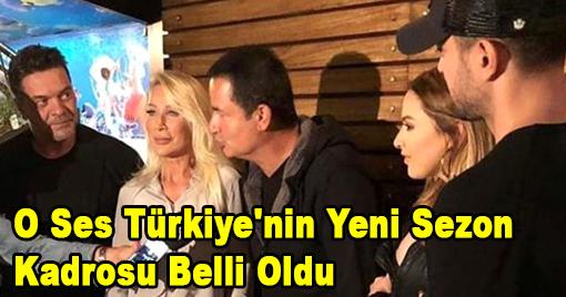 O Ses Türkiye'nin Yeni Sezon Kadrosu Belli Oldu