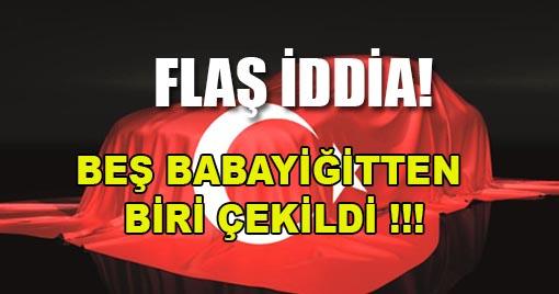 BEŞ BABAYIĞİTTEN BİRİ ÇEKİLDİ !!!