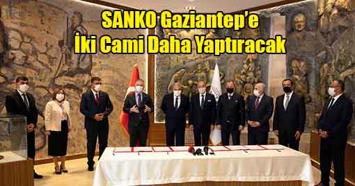 SANKO Holding'den Gaziantep'e İki Cami Daha