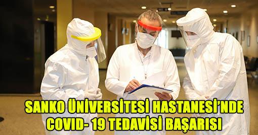 Sanko Üniversitesi Hastanesi Sağlığına Kavuşan 1000'inci Hastayı Evine Gönderdi