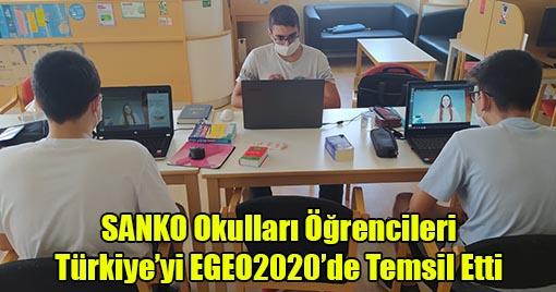 SANKO Okulları Öğrencileri Türkiye'yi EGEO2020'de Temsil Etti