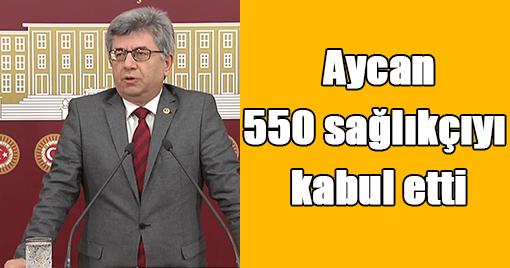 Aycan, 550 sağlıkçıyı kabul etti