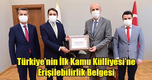 Türkiye'nin İlk Kamu Külliyesi'ne Erişilebilirlik Belgesi