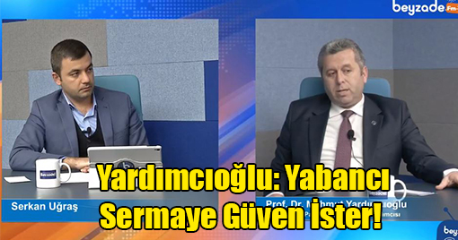 Yardımcıoğlu: Türkiye'nin Ciddi Anlamda Yabancı Sermayeye İhtiyacı Var