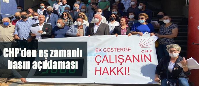 CHP'den eş zamanlı basın açıklaması