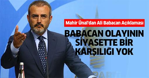 Mahir Ünal'dan Ali Babacan Açıklaması
