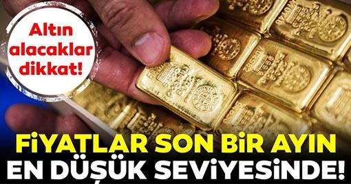 Altın Fiyatları Son Bir Ayın En Düşük Seviyesinde!