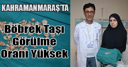 Kahramanmaraş'ta Hastanın Böbreğinden Bir Avuç Taş Çıkartıldı!