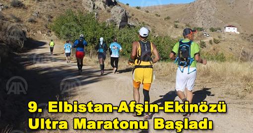 9. Elbistan-Afşin-Ekinözü Ultra Maratonu Başladı