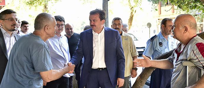 BAŞKAN ERKOÇ'TAN İNCELEME VE ESNAF ZİYARETİ