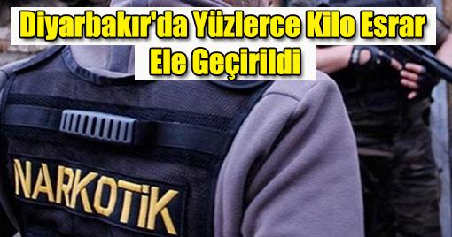 Diyarbakır'da Yüzlerce Kilo Esrar Ele Geçirildi