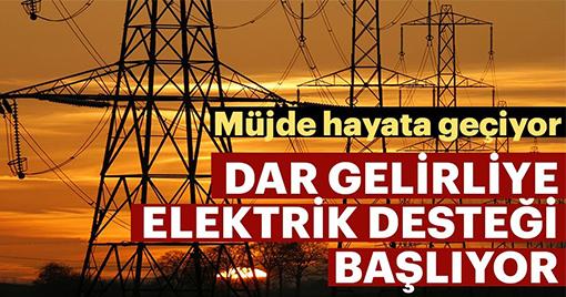 Elektrik Faturası Desteği Başlıyor!