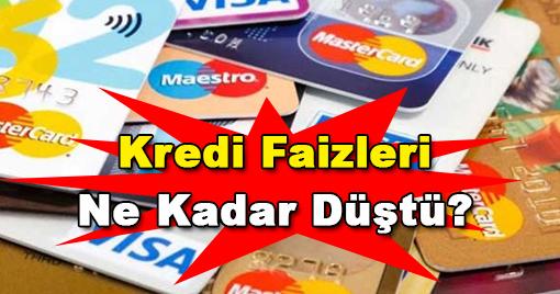 Kredi Faizleri Düşüşe Geçti