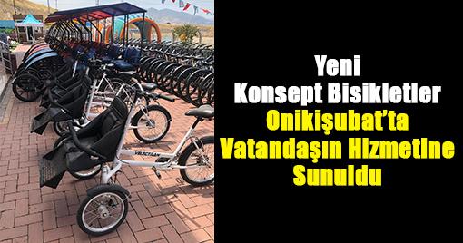 Yeni Konsept Bisikletler Onikişubat'ta Vatandaşın Hizmetine Sunuldu