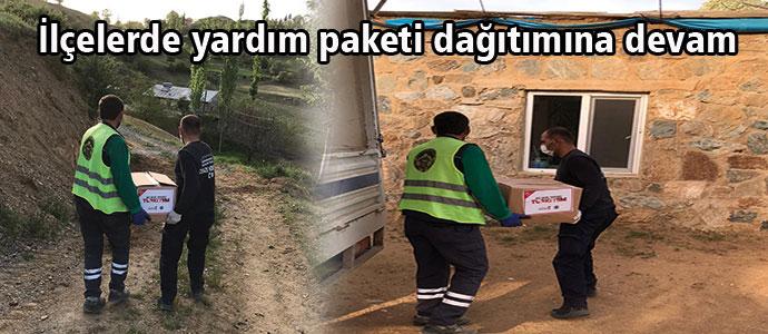 İlçelerde yardım paketi dağıtımı devam