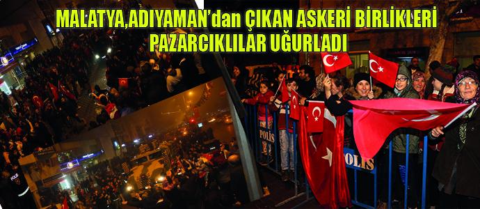 Pazarcık Belediyesi ve Pazarcık Halkı Mehmetçiği sınıra uğurladı..