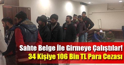 Kahramanmaraş'ta Sahte İzin Belgeli 34 Kişi Yakalandı!
