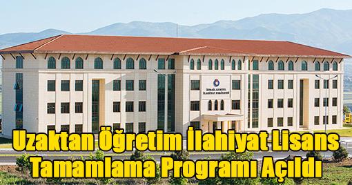 Uzaktan Öğretim İlahiyat Lisans Tamamlama Programı Açıldı