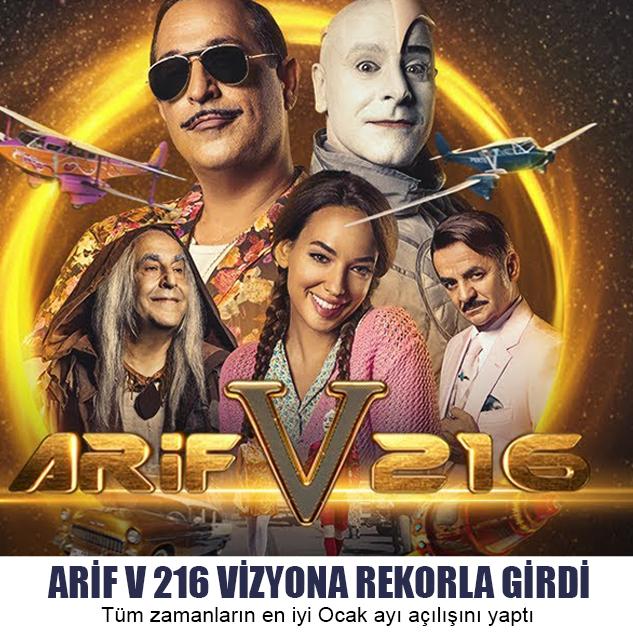 ARİF V 216 VİZYONA REKORLA GİRDİ
