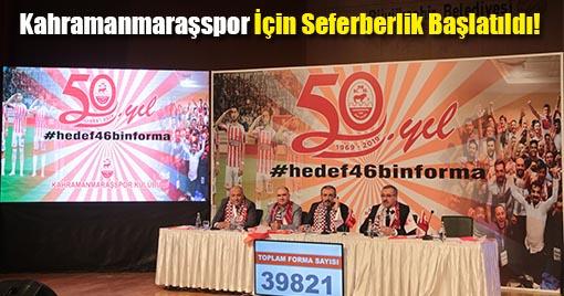 Kahramanmaraşspor İçin Seferberlik Başlatıldı! 50. Yıl 46 Bin Forma
