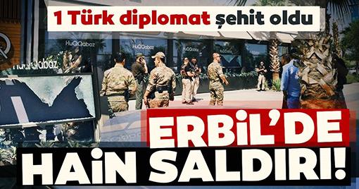 Erbil Başkonsolosluğu Çalışanlarına Saldırı: 1şehit!