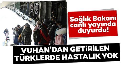 Sağlık Bakanı Koca Çin'den Getirilen Türkler Hakkında Açıklama Yaptı