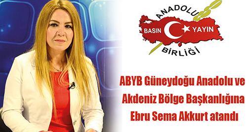 ABYB Güneydoğu Anadolu ve Akdeniz Bölge Başkanlığına Ebru Sema Akkurt Atandı