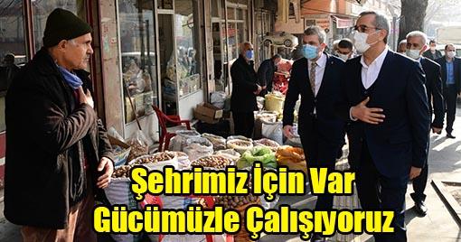 Başkan Güngör Rıdvan Hoca Yeraltı Çarşısı'na Ziyarette Bulundu