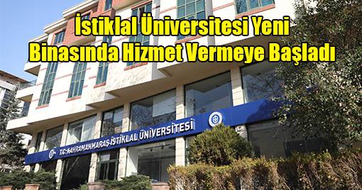 İstiklal Üniversitesi Yeni Binasında Hizmet Vermeye Başladı