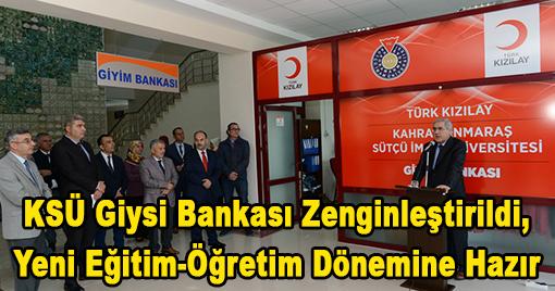 KSÜ Giysi Bankası Zenginleştirildi, Yeni Eğitim-Öğretim Dönemine Hazır