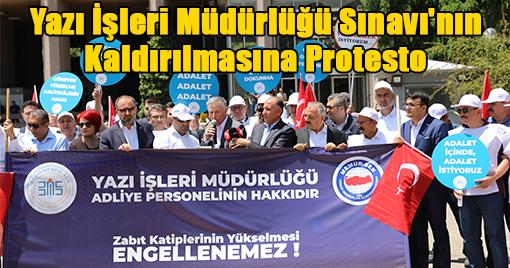 Yazı İşleri Müdürlüğü Sınavının Kaldırılmasına Protesto